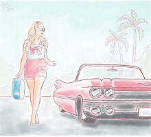 California Cadillac  Photographic Print