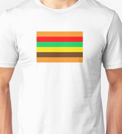 Burger stripes Unisex T-Shirt