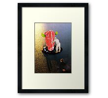Like I say, we were young and in love... Framed Print