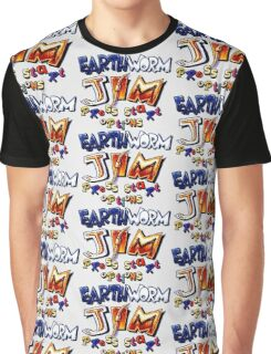 Earthworm Jim (SNES Title Screen) Graphic T-Shirt