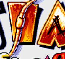 Earthworm Jim (SNES Title Screen) Sticker