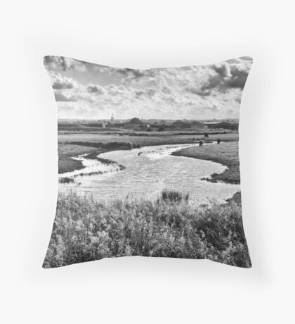 Ham Marshes Throw Pillow