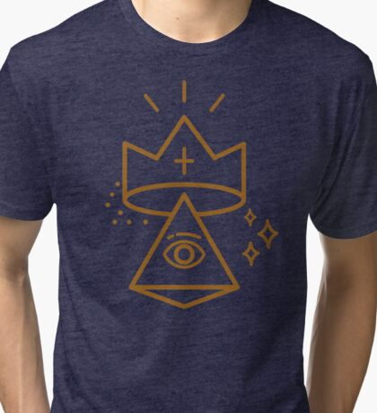 ALLSEEING EYE KING Tri-blend T-Shirt