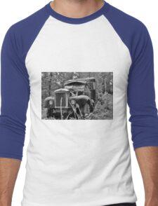 Mack Truck Black And White Men's Baseball ¾ T-Shirt