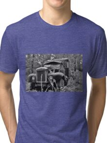 Mack Truck Black And White Tri-blend T-Shirt