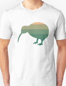 Kiwi in Peach Green Tea Ombre Unisex T-Shirt