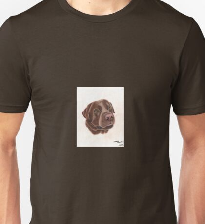 A chocolate Labrador Unisex T-Shirt