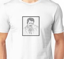 Ron Swanson - Please & Thank You - Sketch - Parks and Recreation Unisex T-Shirt