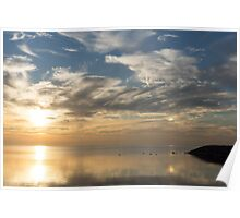 Blinding Bright Sunrise with a Sundog Poster