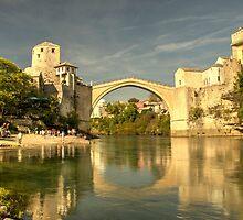 The Old Bridge at Mostar by Rob Hawkins