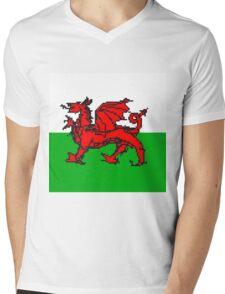 Wales National Flag Mens V-Neck T-Shirt