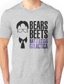Dwight Schrute Bears, Beets, and Battlestar Galactica Unisex T-Shirt