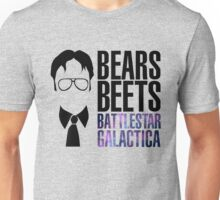Dwight Schrute Bears, Beets, and Battlestar Galactica Unisex T-Shirt