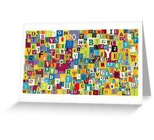 Alphabet Greeting Card