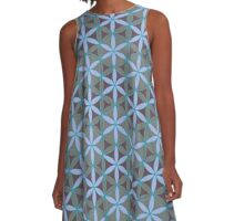 Flower of Life Pattern 11 A-Line Dress