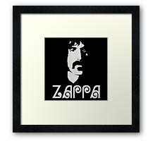 Frank Zappa Silhouette Framed Print