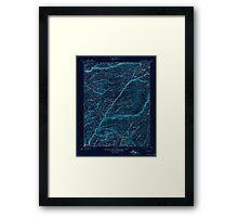 USGS TOPO Map California CA Big Trees 299226 1901 125000 geo Inverted Framed Print