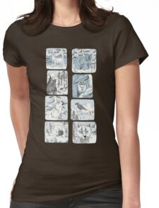 Nature Sketches Womens Fitted T-Shirt