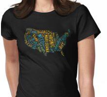 Marijuana Cannabis Weed United States USA Map Womens Fitted T-Shirt