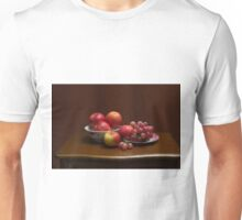 Still life with apples and grapes Unisex T-Shirt