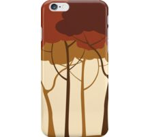 Sepia forest iPhone Case/Skin