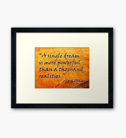 A Single Dream Framed Print
