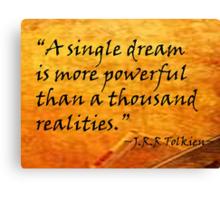A Single Dream Canvas Print