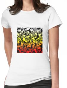 Camo Gradient - Red | Yellow | White | Grey | Black Womens Fitted T-Shirt