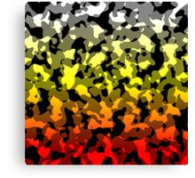 Camo Gradient - Red | Yellow | White | Grey | Black Canvas Print