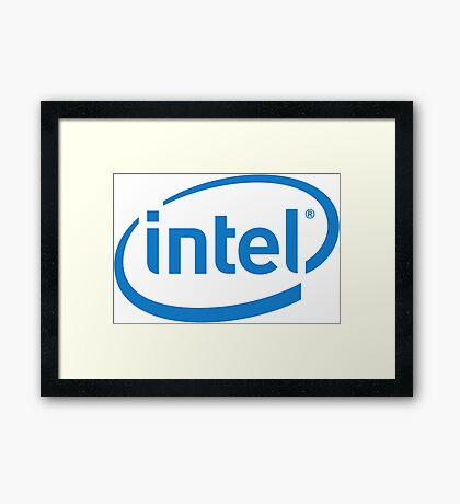 Intel logo Framed Print
