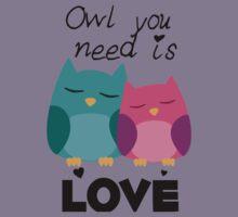 Owl You Need Is Love Kids Tee