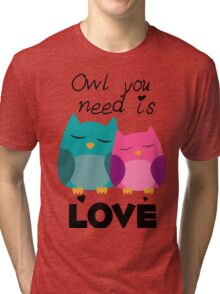 Owl You Need Is Love Tri-blend T-Shirt