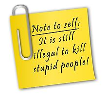Note to self-It is still illegal to kill stupid people by augustinet