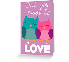 Owl You Need Is Love Greeting Card