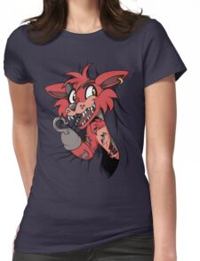 Foxy in the Curtain Womens Fitted T-Shirt