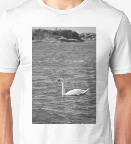 Greyscale swan Unisex T-Shirt