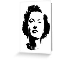 Barbara Stanwyck Is Guilty Greeting Card