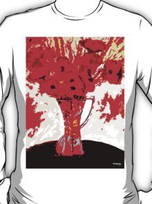 RED FLOWERS IN A VASE T-Shirt