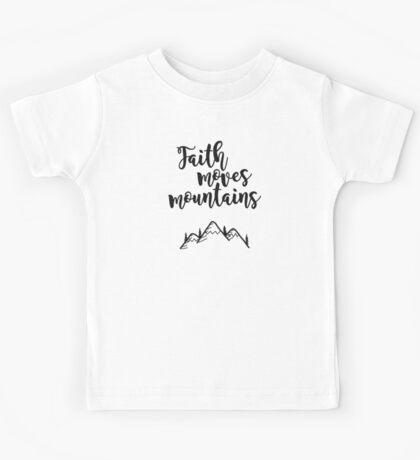 Faith Quote Kids Tee