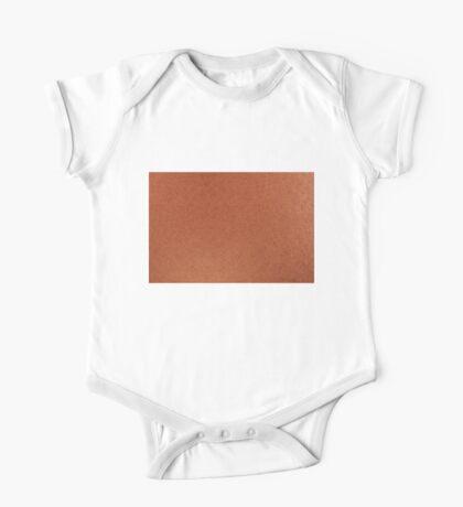 Orange iridescent cardboard texture One Piece - Short Sleeve