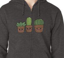 Succulent Friends Zipped Hoodie