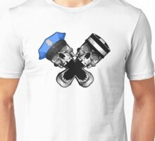 Cop and Robber Skull Unisex T-Shirt