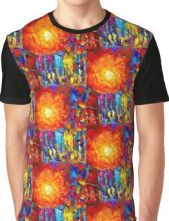 Funky Oil Colours Graphic T-Shirt