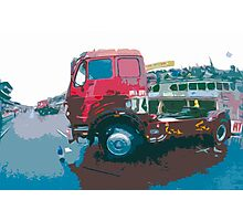 """Unique and rare 1980 Race Trucks France 15 (c) (t) """" fawn paint Picasso ! Olao-Olavia by Okaio Créations Photographic Print"""