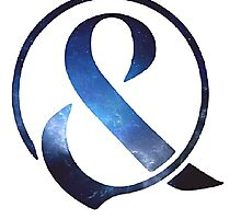 Blue Galaxy Of Mice & Men Ampersand Logo  by musicology