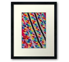 colorful kites flying in the sky Framed Print