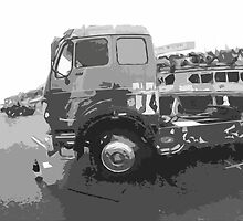 """Unique and rare 1980 Race Trucks France 15 (n&b) (t) """" fawn paint Picasso ! Olao-Olavia by Okaio Créations by Okaio - caillaud olivier"""