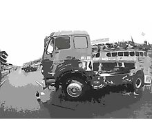 """Unique and rare 1980 Race Trucks France 15 (n&b) (t) """" fawn paint Picasso ! Olao-Olavia by Okaio Créations Photographic Print"""
