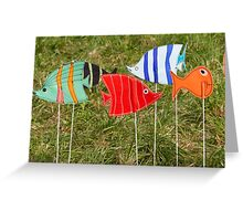 artistic and colored fish Greeting Card