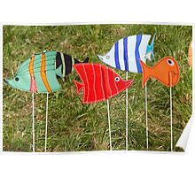 artistic and colored fish Poster